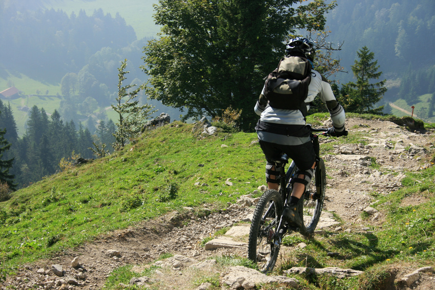 Mountainbiker im Chiemgau